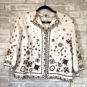 Size 14 Embroidered Jacket Coldwater Creek 11